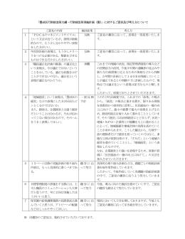 「墨田区行財政改革大綱・行財政改革実施計画(案)」に対するご意見