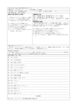 プログラミング - 岐阜工業高等専門学校