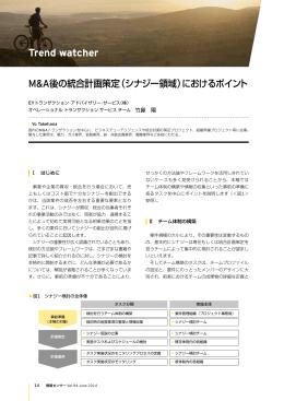 M&A後の統合計画策定(シナジー領域)におけるポイント