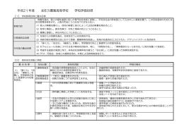 平成21年度 学校評価目標(PDF)