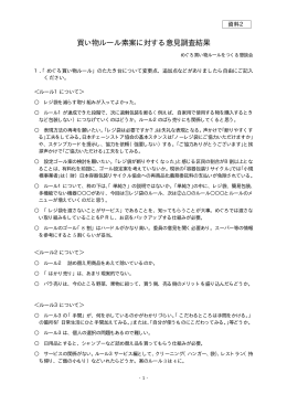 資料2.買い物ルール素案に対する意見調査結果(PDF:18KB)