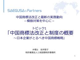 中国商標について - 外国産業財産権侵害対策等支援事業