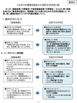 資料6 これまでの調査を踏まえた改訂の方向性(案)(PDF:620KB)