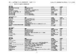 修士入試準備のための推薦図書・文献リスト