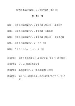揖斐川水源地域ビジョン策定会議(第3回)