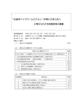 に寄せられた市民意見の概要(PDF文書)