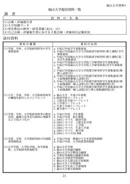 福山大学提出資料一覧