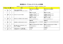 東京農大オープンカレッジパンフレット正誤表