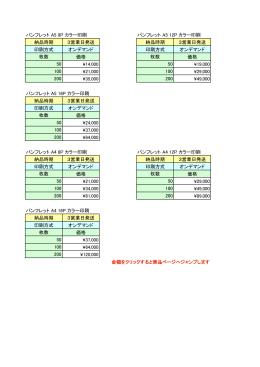 パンフレット A5 8P カラー印刷 パンフレット A5 12P カラー印刷 納品時期