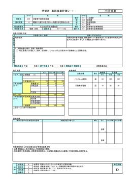 伊賀市 事務事業評価シート ソフト事業