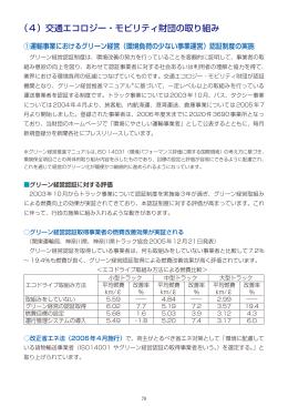 (4)交通エコロジー・モビリティ財団の取り組み