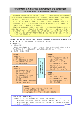 地域素材を活用した探究的な学習の実践例
