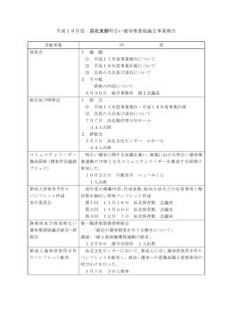 平成18年度 浜北支部明るい選挙推進協議会事業報告