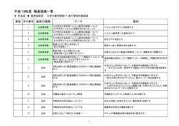 平成18年度 職員提案一覧表(PDFファイル 90.4KB)