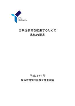 自閉症教育を推進するための具体的提言(平成22年1月)