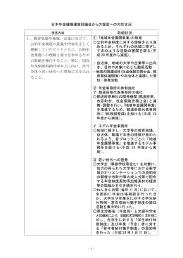 日本年金機構運営評議会からの提言への対応状況 取組状況 1.教育
