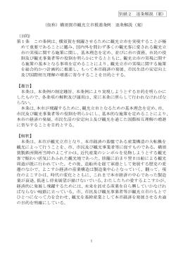 (仮称)横須賀市観光立市推進条例 逐条解説
