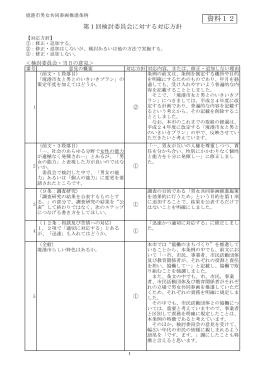 第1回検討委員会に対する対応方針(資料12)