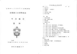 2008年(H20)育成会総会資料