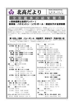 第 2 号 - 秋田県立秋田北高等学校