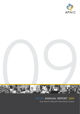 APNIC ANNUAL REPORT 2009