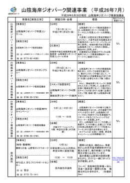 山陰海岸ジオパーク関連事業 (平成26年7月)