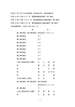 平成20年5月20日判決言渡 同日原本交付 裁判所書記官 平成16年(ワ)