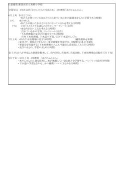 6.愛媛県:新居浜市立角野小学校 学習単元 4年社会科「わたしたちの