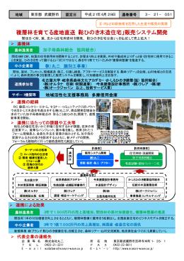 複層林を育てる産地直送「総ひのき木造住宅」販売システム開発
