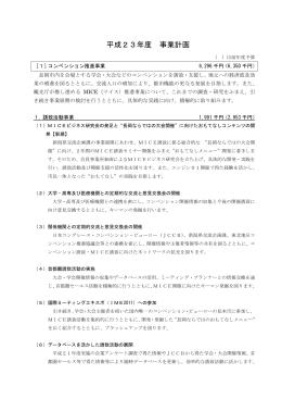 平成23年度 事業計画 - 長岡観光コンベンション協会