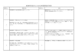 東海村防犯灯LED化事業質疑回答書