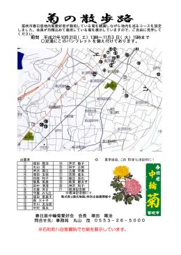 ※石和町八田家書院でも菊を展示しています。 春日居中輪菊