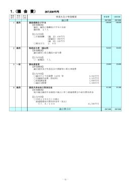 1.(議 会 費)