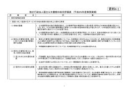 独立行政法人国立公文書館の総合評価表(平成25年度業務実績)(PDF