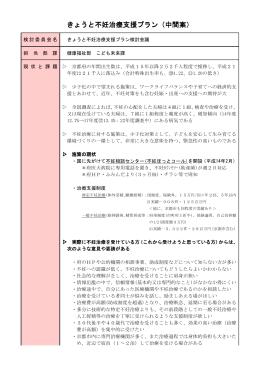 きょうと不妊治療支援プラン(中間案)(PDF:133KB)