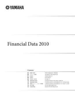 Financial Data 2010