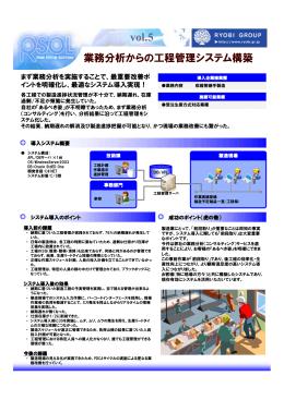業務分析からの工程管理システム構築