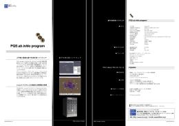 PQS ab initio program パンフレット PDF版