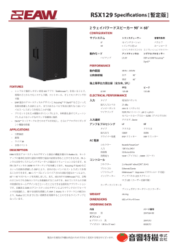 RSX129 Specifications [暫定版]