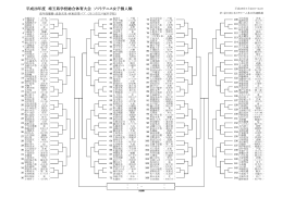 平成28年度 埼玉県学校総合体育大会 ソフトテニス女子個人戦