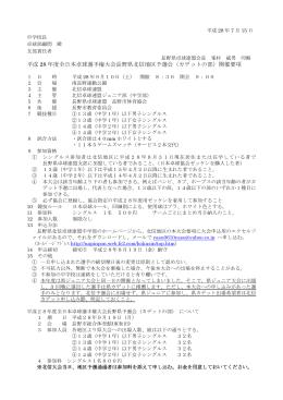 平成 28 年度全日本卓球選手権大会長野県北信地区予選会(カデットの