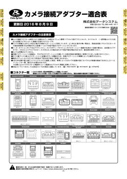 カメラ接続アダプター適合表