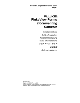 FlukeView Forms Documenting Software