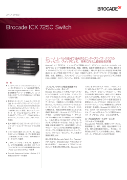 Brocade ICX 7250 Switch