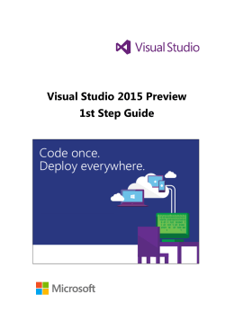 Visual Studio 2015 Preview 1st Step Guide