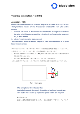 レンズ技術資料/Lens Technical Information